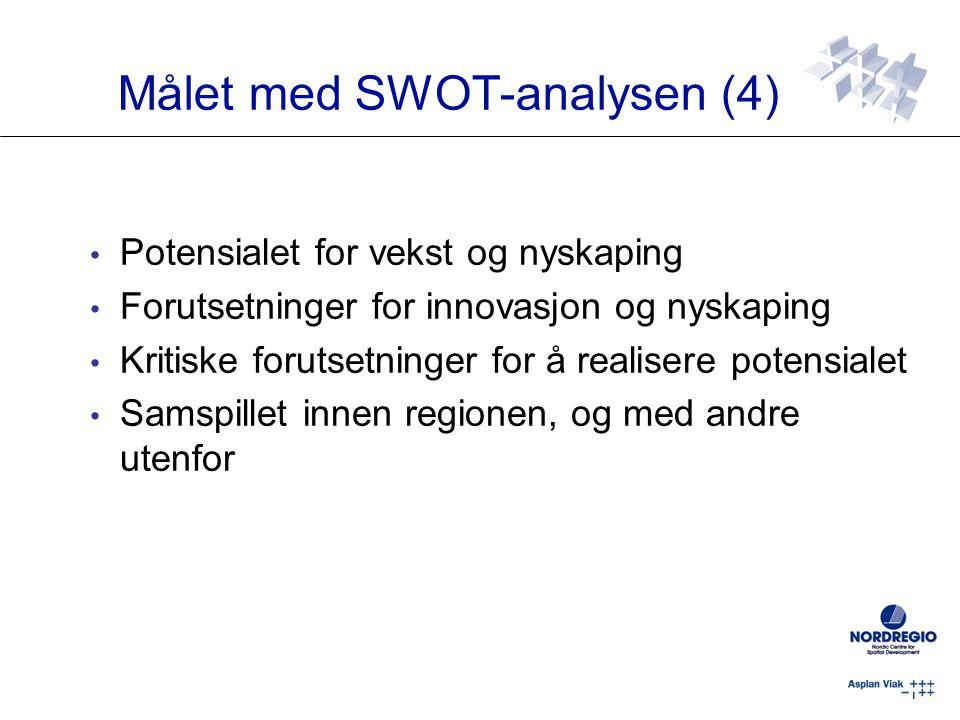 Målet med SWOT-analysen (4)