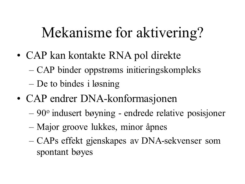 Mekanisme for aktivering