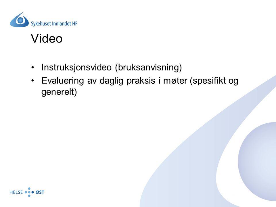 Video Instruksjonsvideo (bruksanvisning)