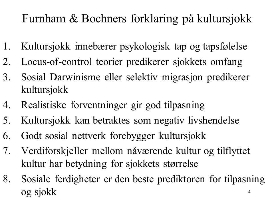 Furnham & Bochners forklaring på kultursjokk