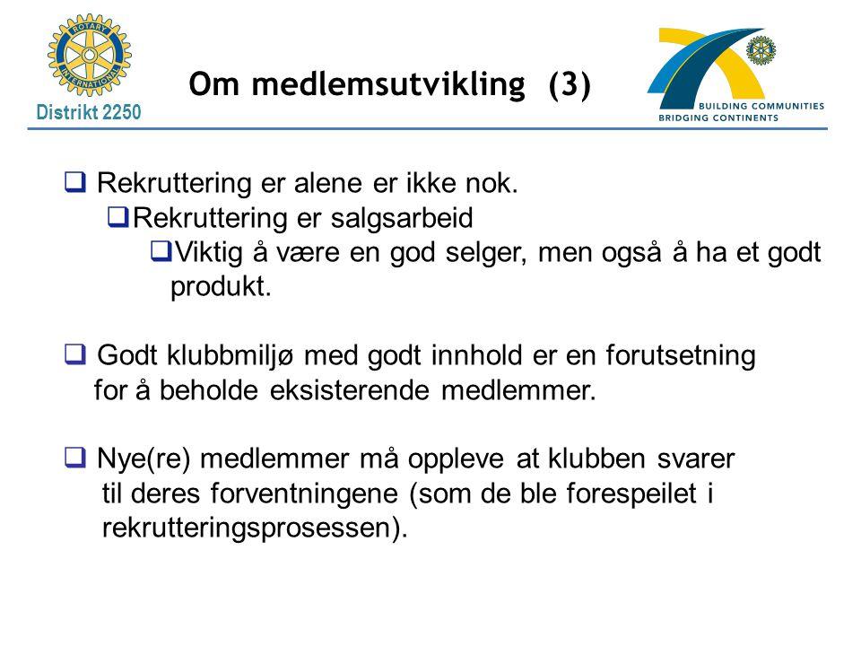 Om medlemsutvikling (3)