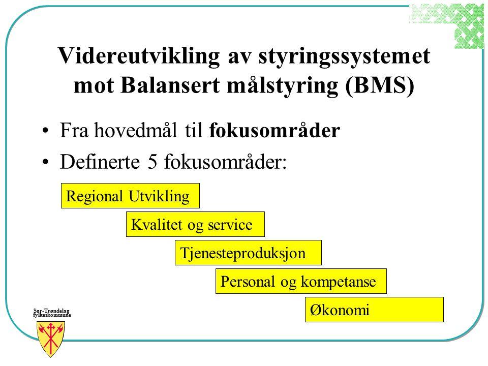 Videreutvikling av styringssystemet mot Balansert målstyring (BMS)