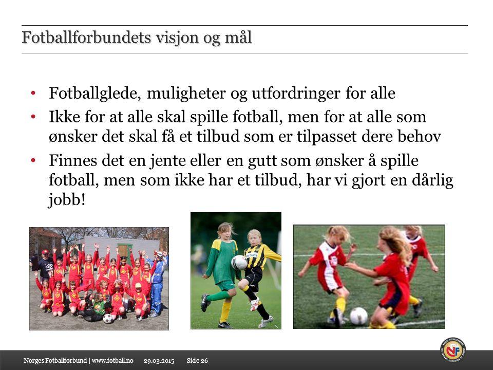 Fotballforbundets visjon og mål
