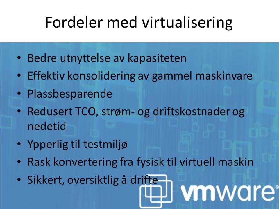 Fordeler med virtualisering