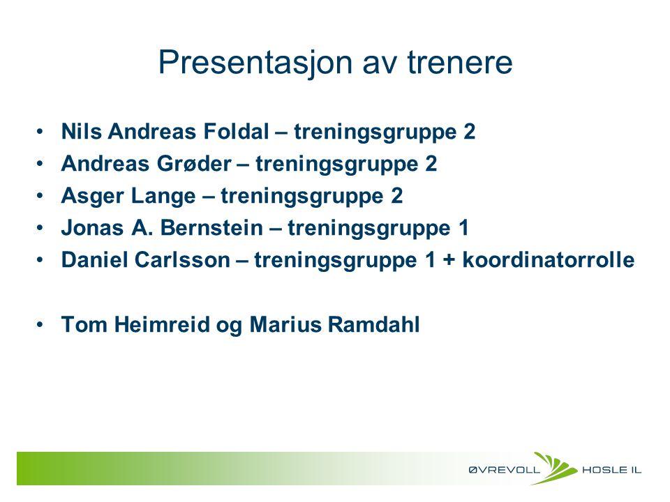 Presentasjon av trenere