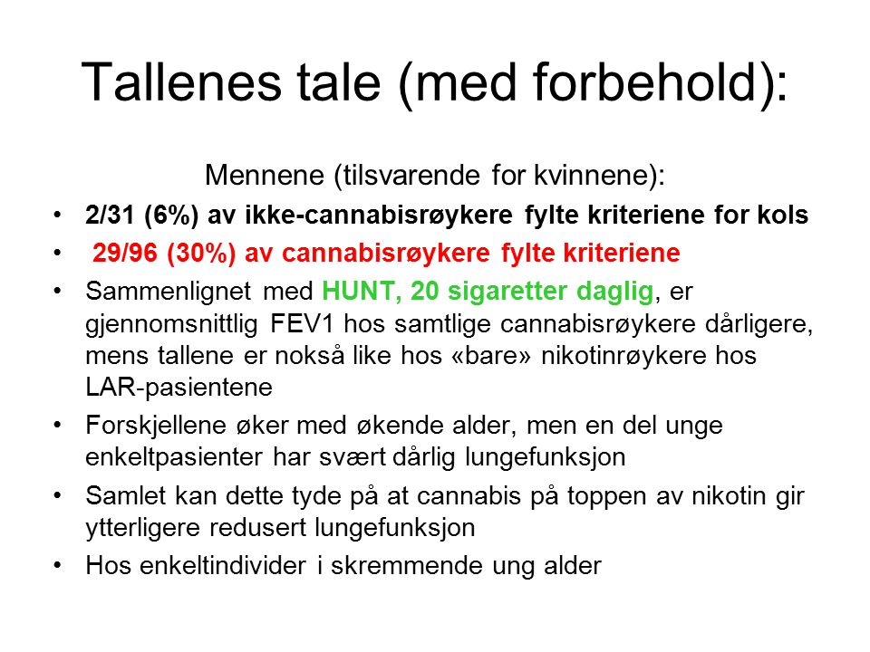 Tallenes tale (med forbehold):