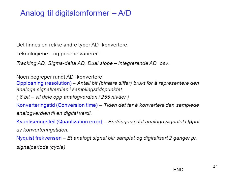 Analog til digitalomformer – A/D