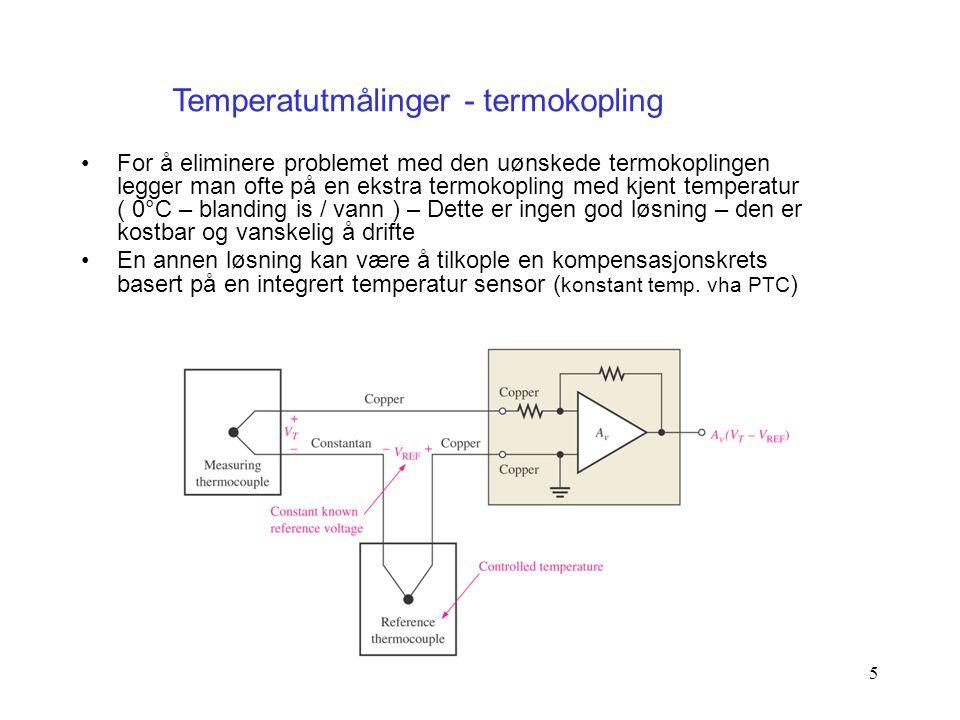 Temperatutmålinger - termokopling
