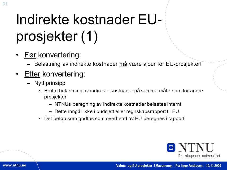 Indirekte kostnader EU-prosjekter (1)