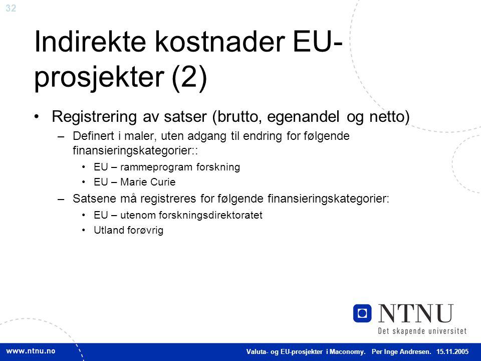 Indirekte kostnader EU-prosjekter (2)
