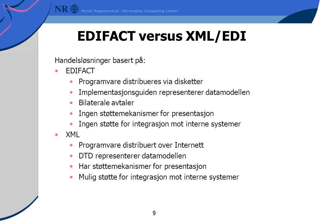 EDIFACT versus XML/EDI