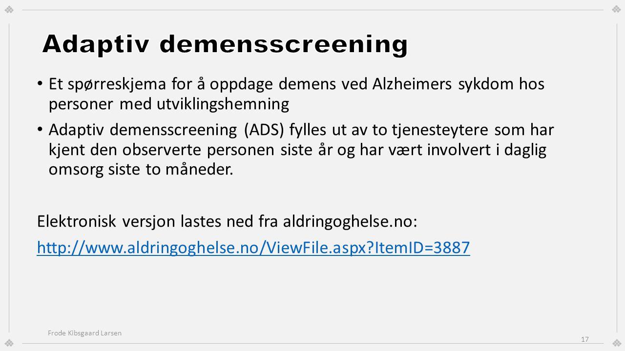 Adaptiv demensscreening