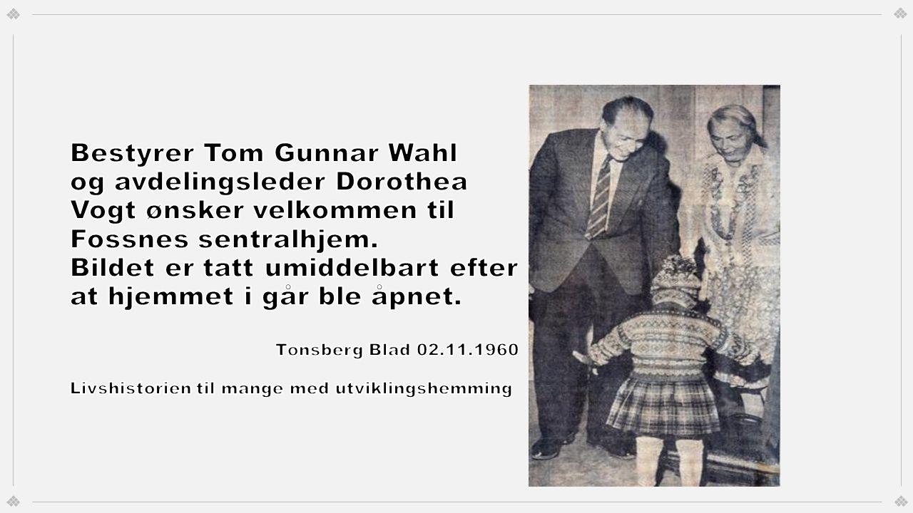 Bestyrer Tom Gunnar Wahl og avdelingsleder Dorothea Vogt ønsker velkommen til Fossnes sentralhjem.