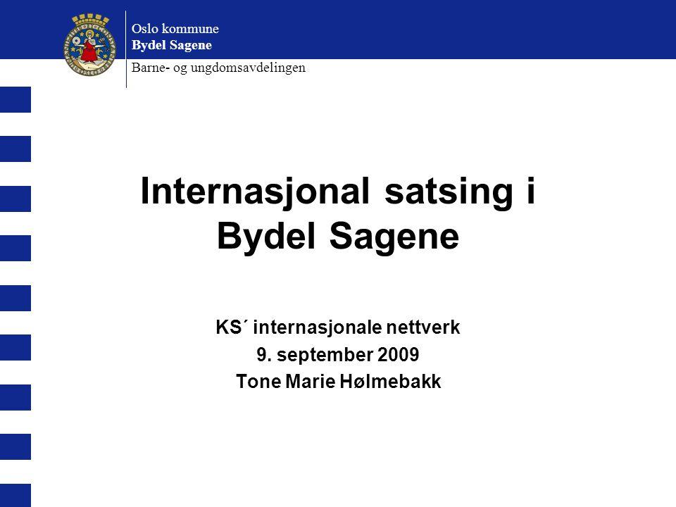 Internasjonal satsing i Bydel Sagene