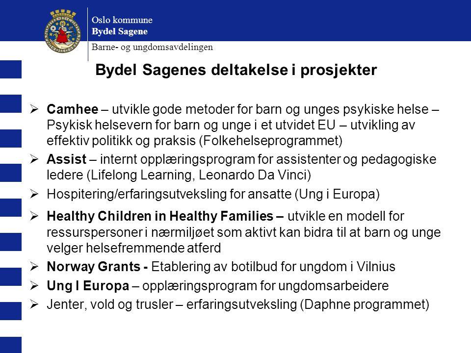 Bydel Sagenes deltakelse i prosjekter