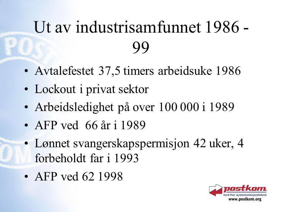 Ut av industrisamfunnet 1986 - 99