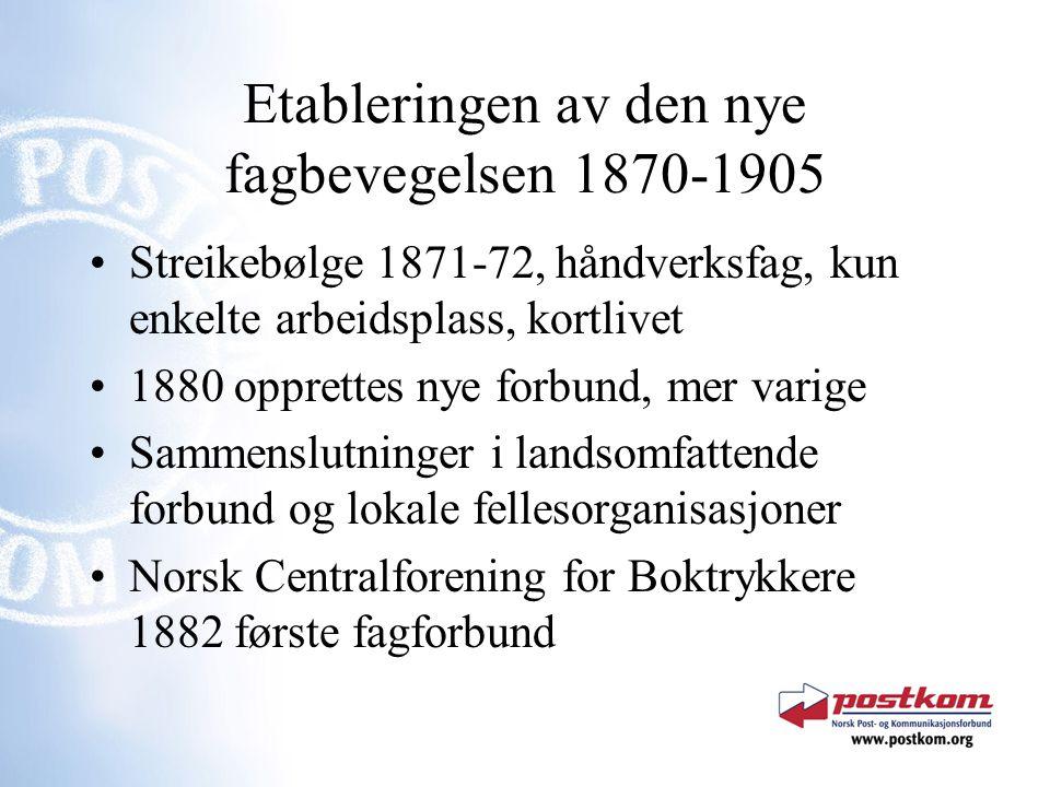 Etableringen av den nye fagbevegelsen 1870-1905