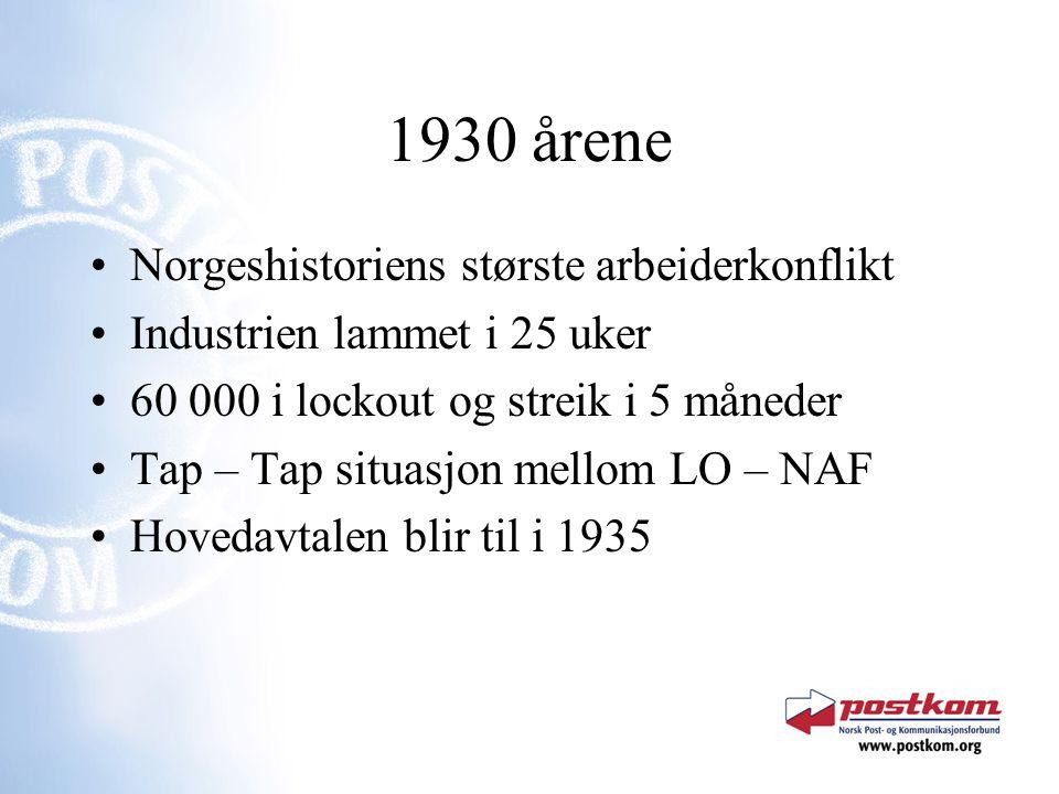 1930 årene Norgeshistoriens største arbeiderkonflikt