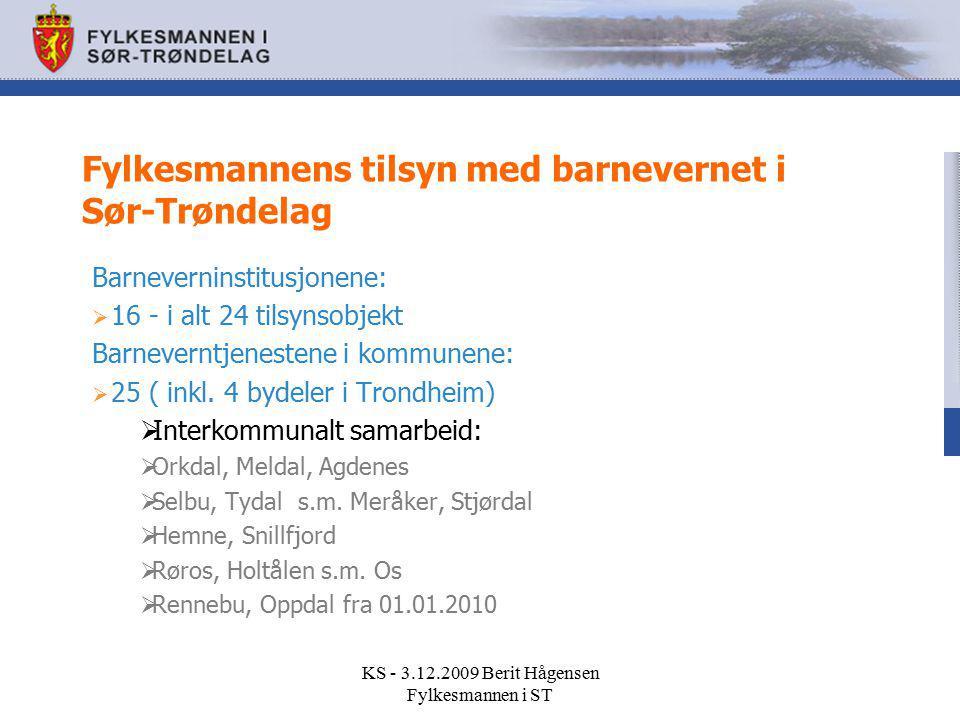 Fylkesmannens tilsyn med barnevernet i Sør-Trøndelag