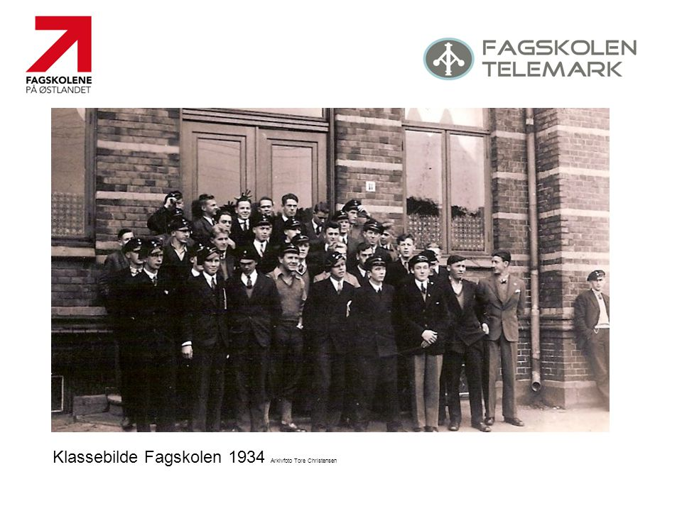 Klassebilde Fagskolen 1934 Arkivfoto Tore Christensen