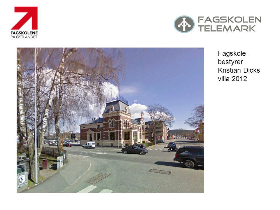 Fagskole-bestyrer Kristian Dicks villa 2012