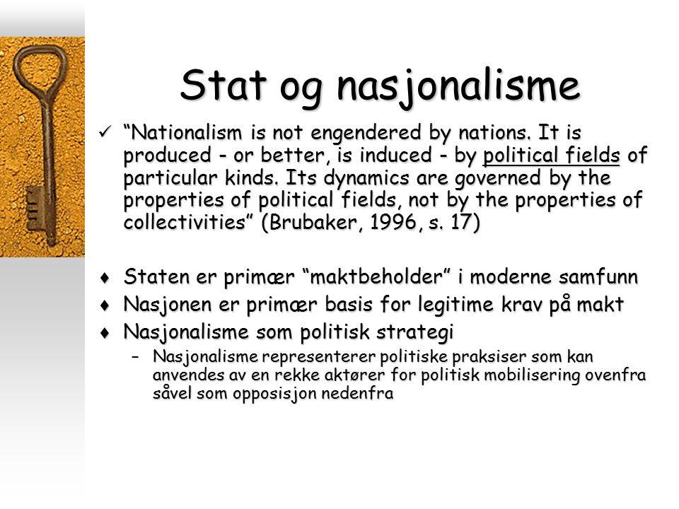Stat og nasjonalisme
