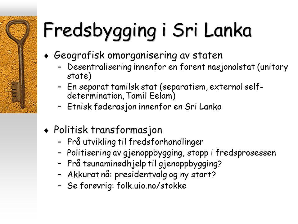 Fredsbygging i Sri Lanka