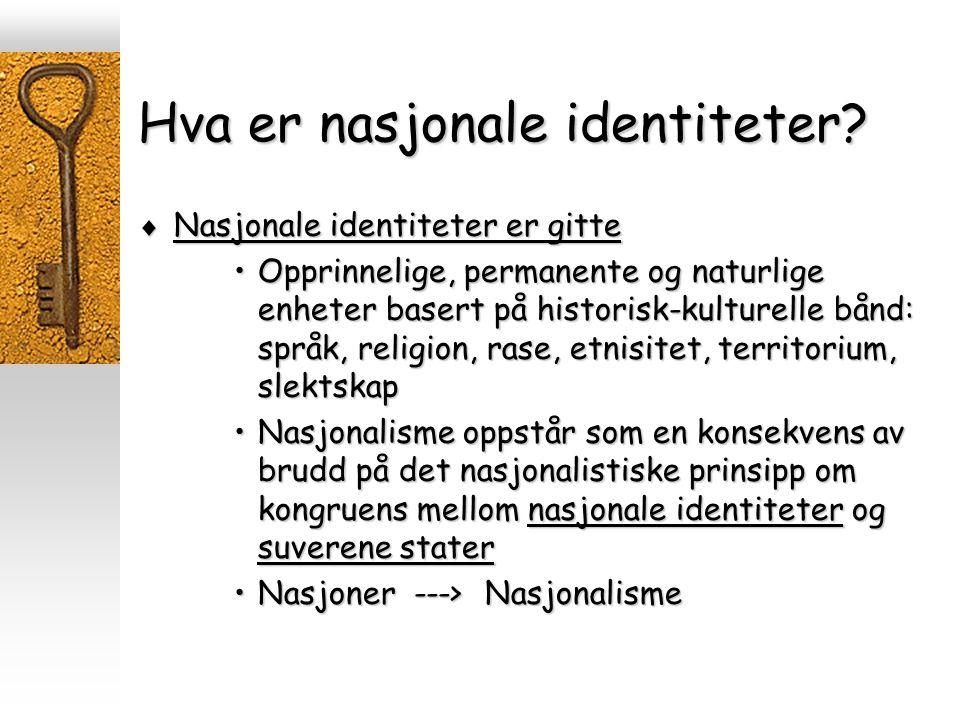 Hva er nasjonale identiteter