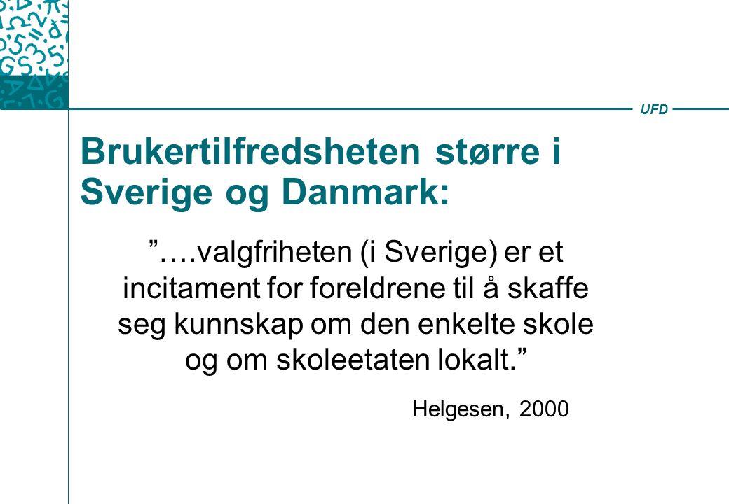 Brukertilfredsheten større i Sverige og Danmark: