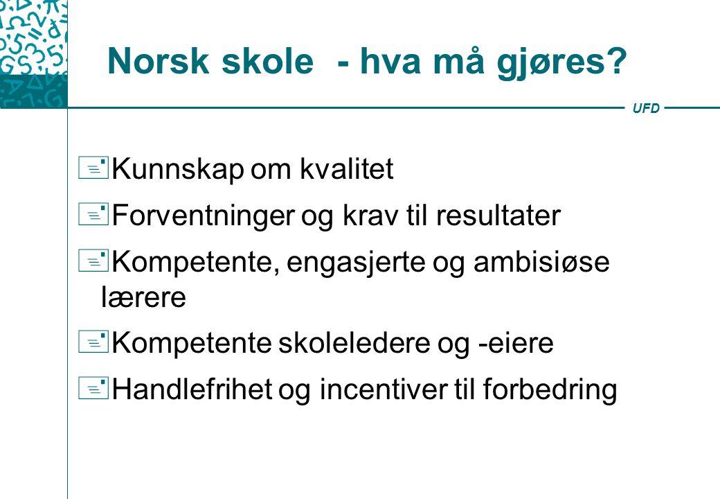Norsk skole - hva må gjøres