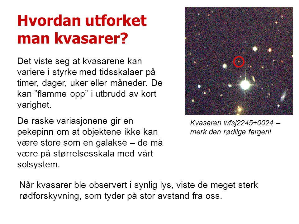 Hvordan utforket man kvasarer