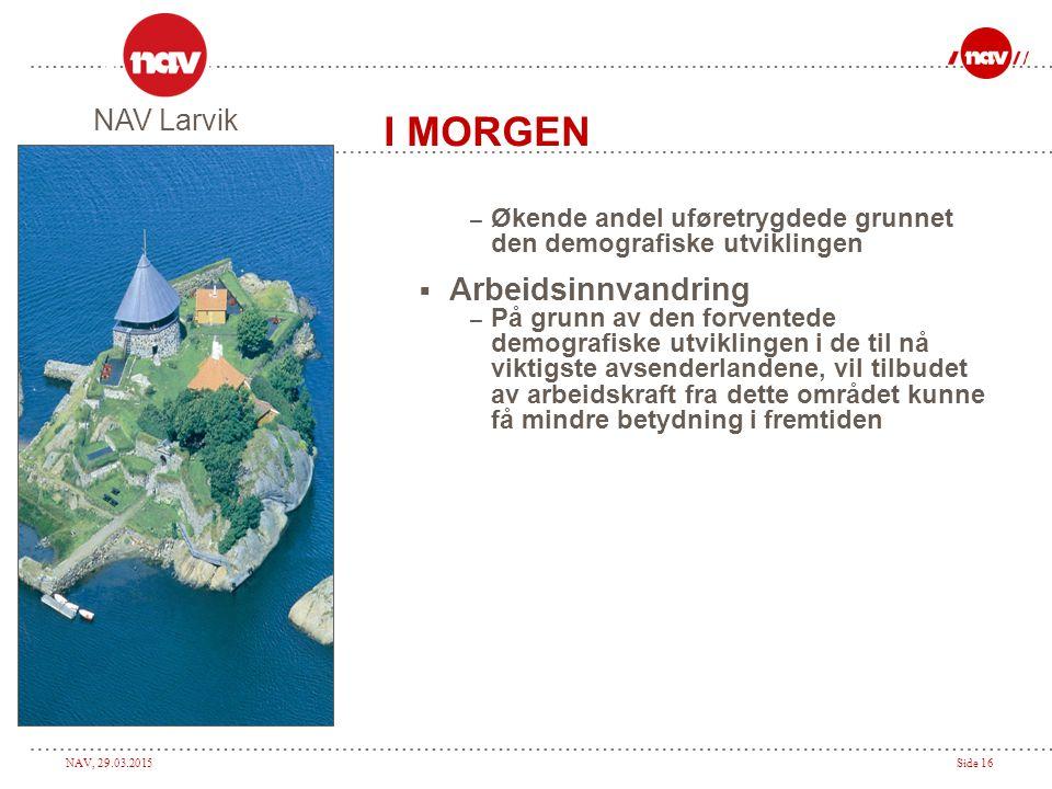 I MORGEN Arbeidsinnvandring NAV Larvik