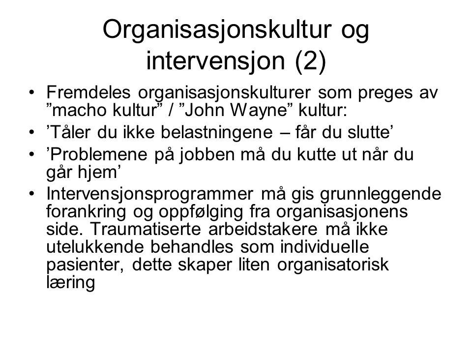 Organisasjonskultur og intervensjon (2)