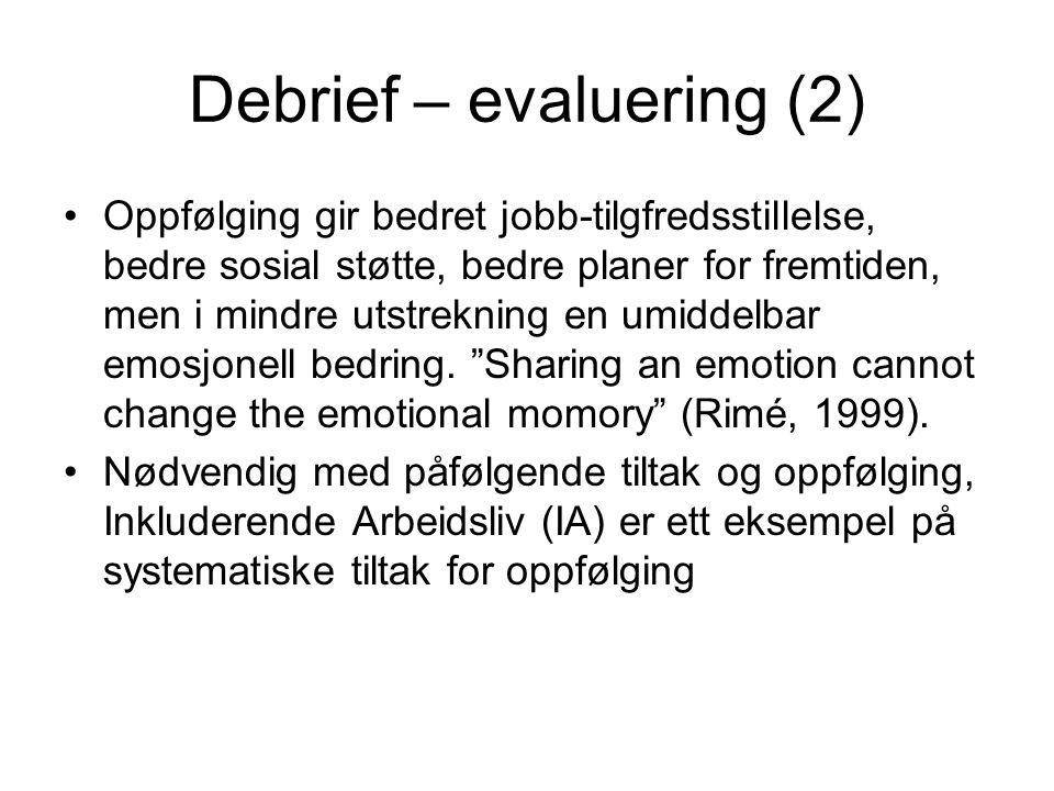 Debrief – evaluering (2)