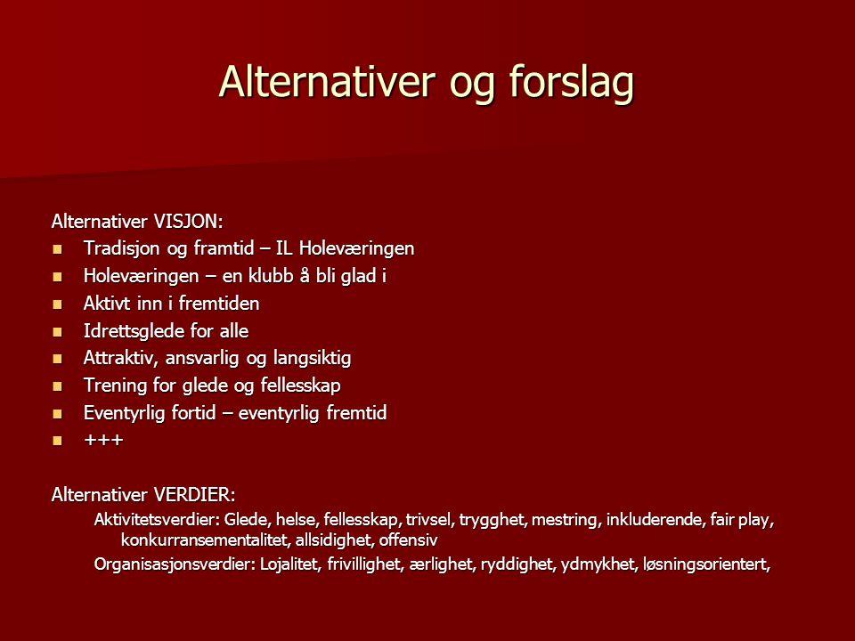 Alternativer og forslag