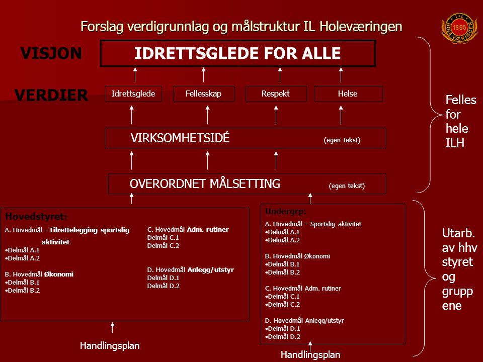 Forslag verdigrunnlag og målstruktur IL Holeværingen