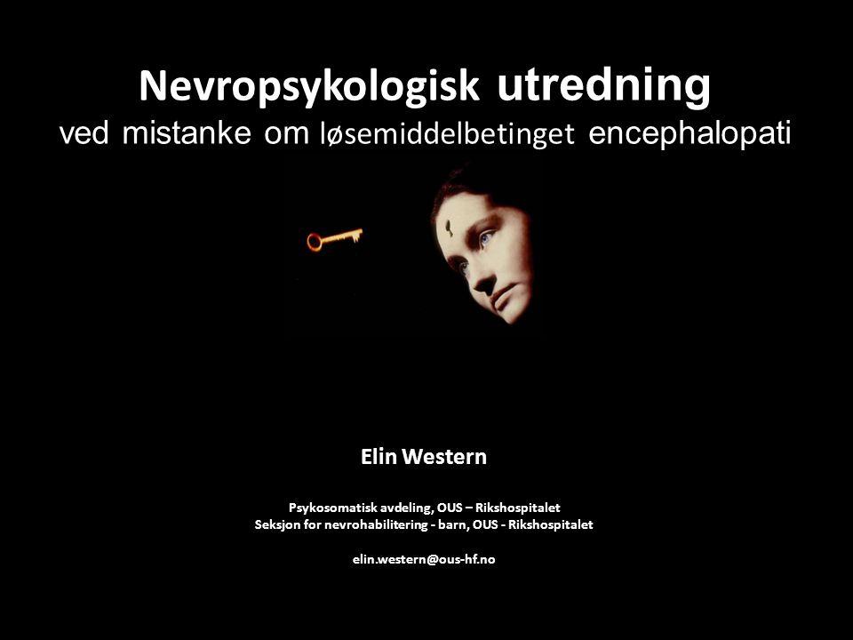 Nevropsykologisk utredning