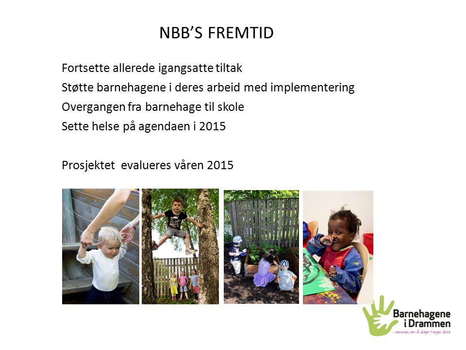 NBB'S FREMTID Fortsette allerede igangsatte tiltak