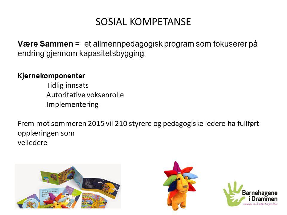 SOSIAL KOMPETANSE Være Sammen = et allmennpedagogisk program som fokuserer på endring gjennom kapasitetsbygging.