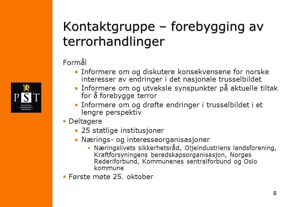Kontaktgruppe – forebygging av terrorhandlinger
