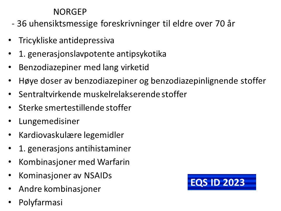 NORGEP - 36 uhensiktsmessige foreskrivninger til eldre over 70 år