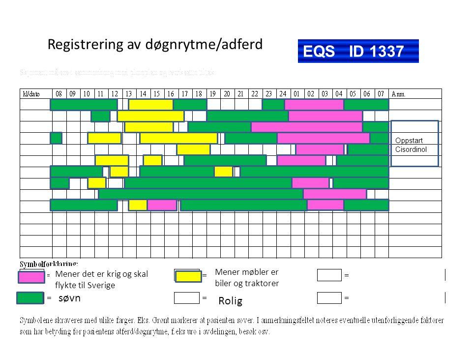 Registrering av døgnrytme/adferd