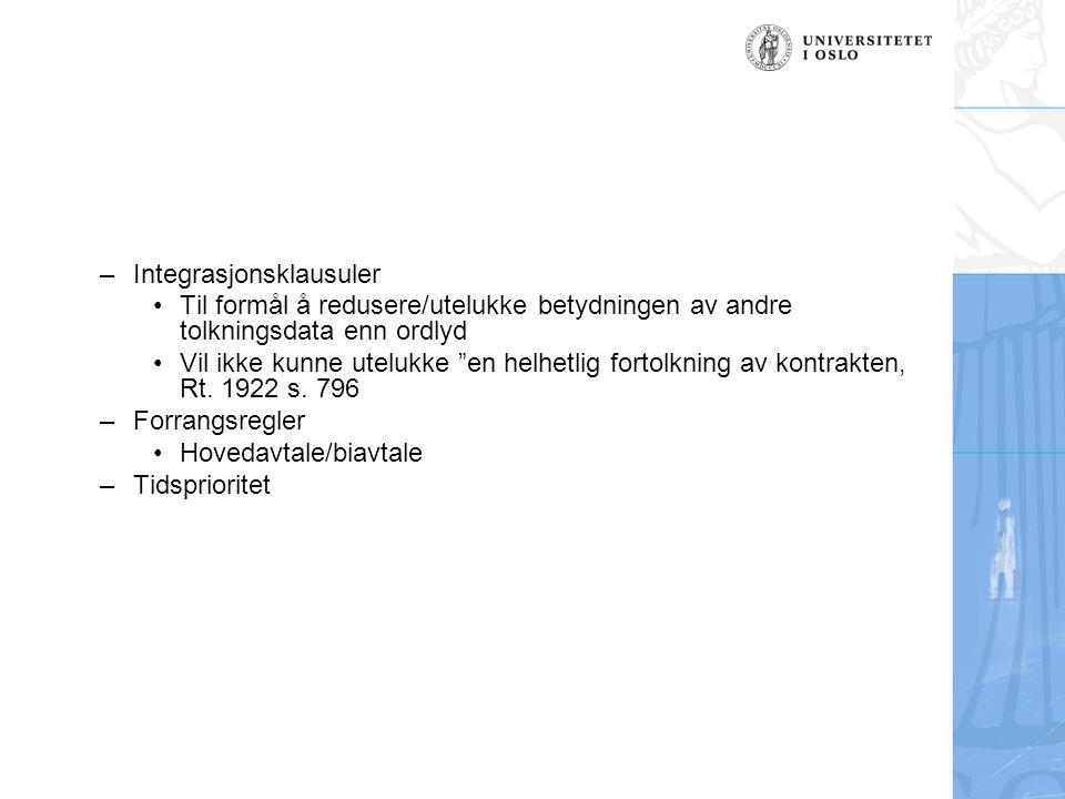 Integrasjonsklausuler