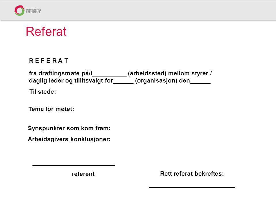 Referat R E F E R A T.