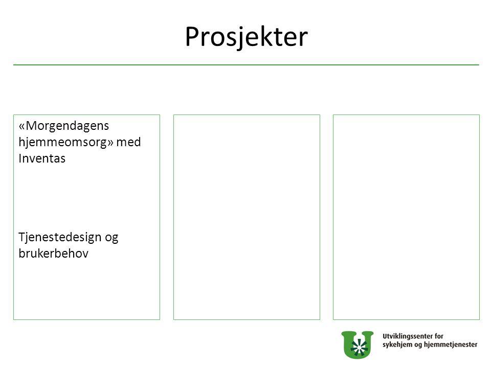 Prosjekter «Morgendagens hjemmeomsorg» med Inventas