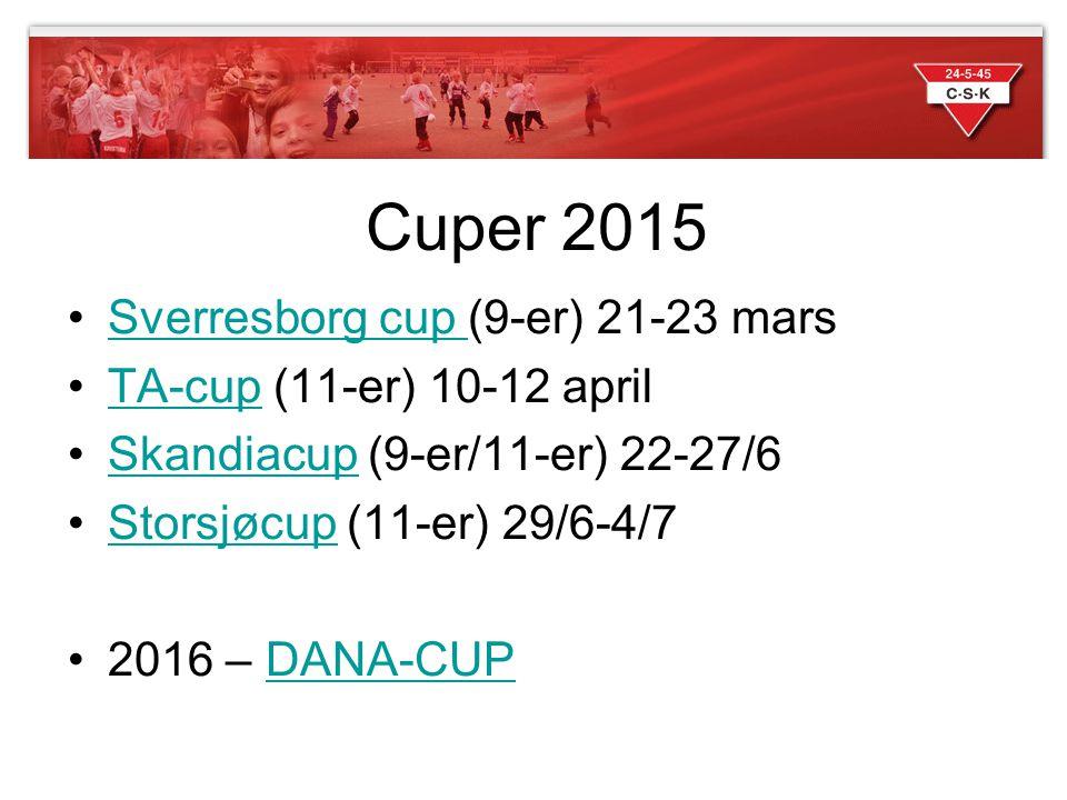 Cuper 2015 Sverresborg cup (9-er) 21-23 mars