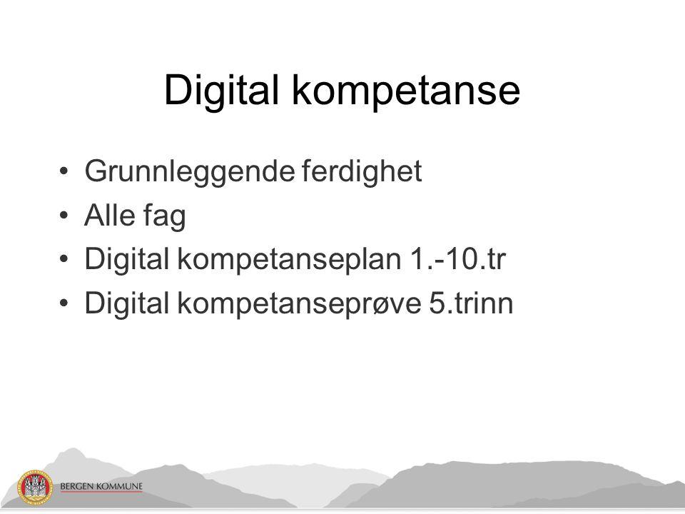 Digital kompetanse Grunnleggende ferdighet Alle fag