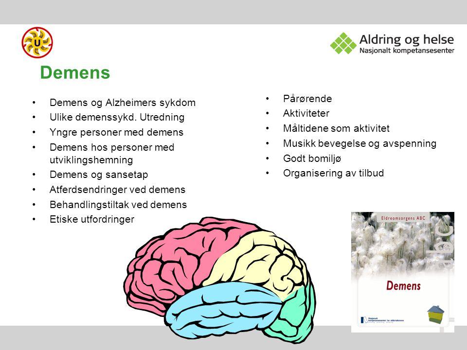 Demens Pårørende Demens og Alzheimers sykdom Aktiviteter