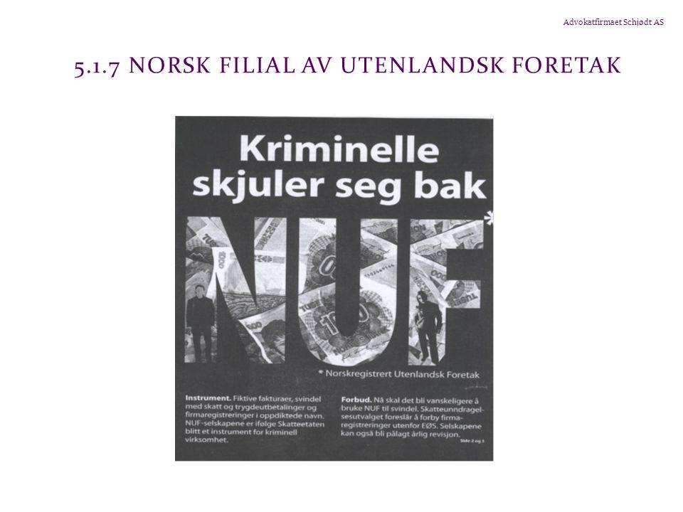 5.1.7 Norsk filial av utenlandsk foretak