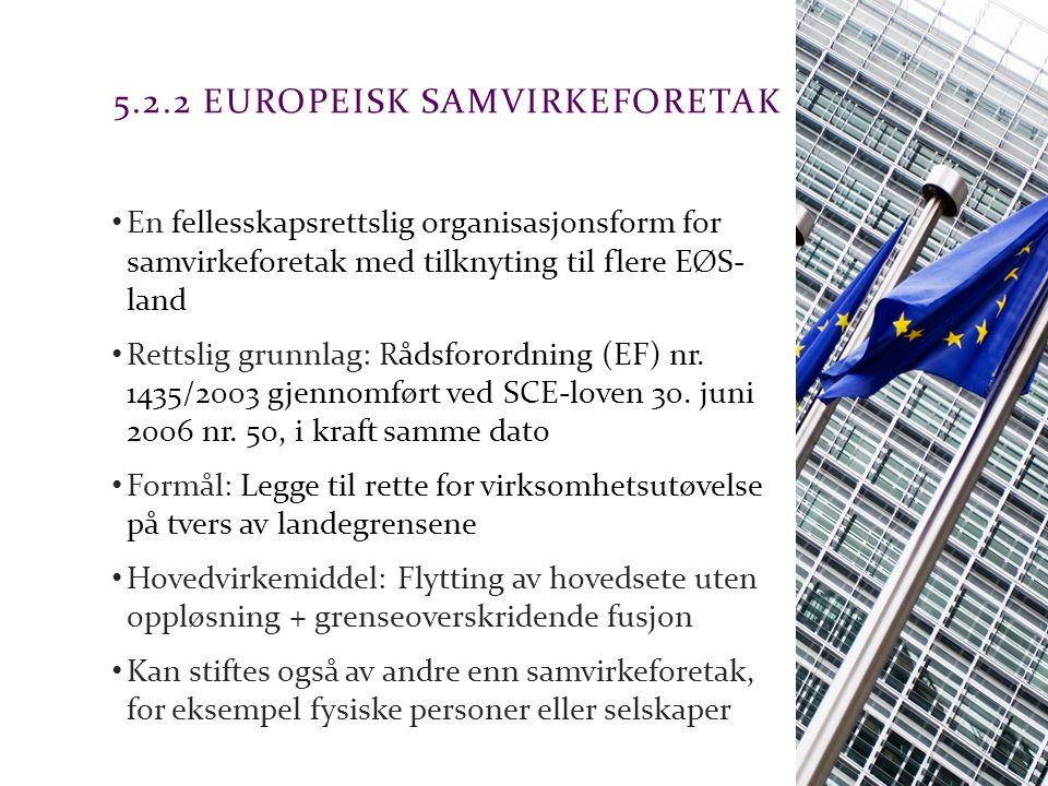 5.2.2 Europeisk samvirkeforetak
